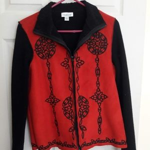 Coldwater Creek Jackets & Coats - Black and Red Zip Jacket